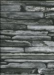 Reclaimed Industrial Chic Wallpaper Stacked Slate 2701-22352 By A Street Prints For Brewster Fine Decor